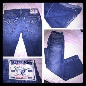 True Religion jeans 36x30. Sick white stitching!